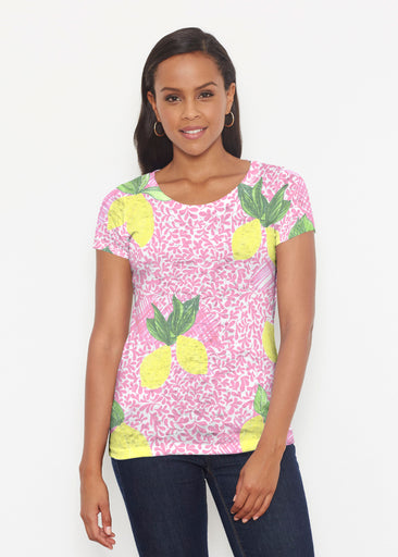Pink Lemonade (10162) ~ Short Sleeve Scoop Shirt