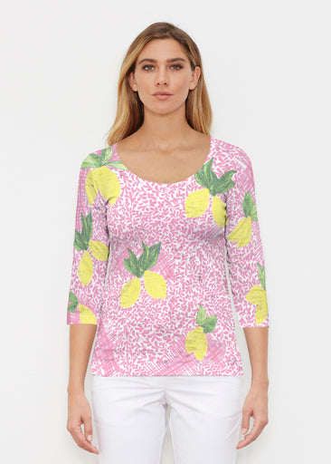 Pink Lemonade (10162) ~ Signature 3/4 Sleeve Scoop Shirt