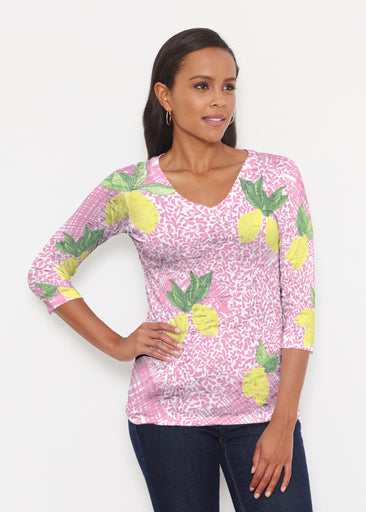 Pink Lemonade (10162) ~ Signature 3/4 V-Neck Shirt
