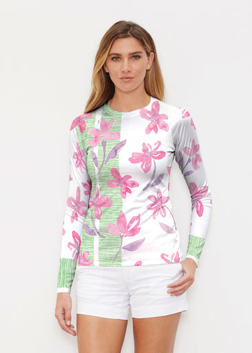 Spring Flower (10169) ~ Long Sleeve Rash Guard