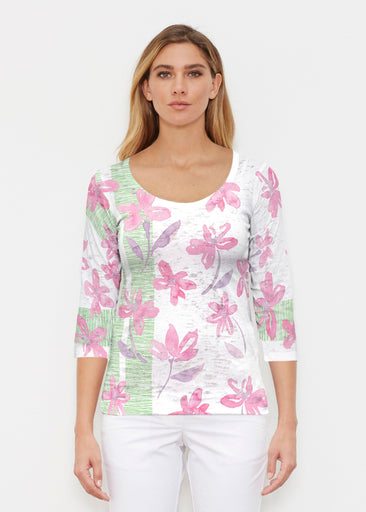 Spring Flower (10169) ~ Signature 3/4 Sleeve Scoop Shirt