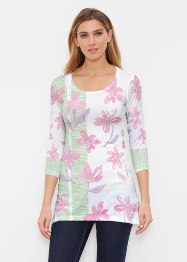 Spring Flower (10169) ~ Buttersoft 3/4 Sleeve Tunic