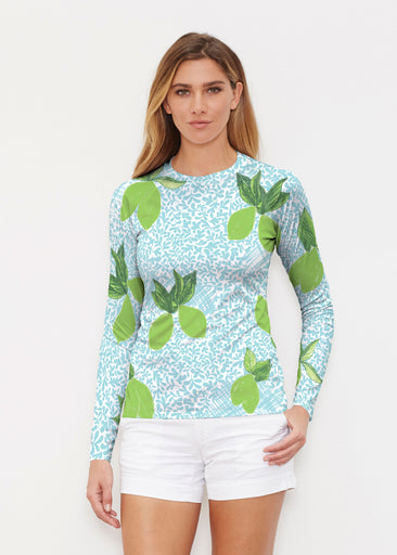 Limes Aqua (10179) ~ Long Sleeve Rash Guard