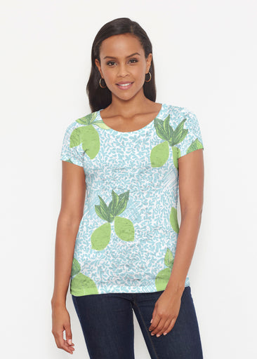 Limes Aqua (10179) ~ Short Sleeve Scoop Shirt