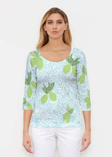 Limes Aqua (10179) ~ Signature 3/4 Sleeve Scoop Shirt