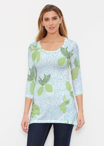 Limes Aqua (10179) ~ Buttersoft 3/4 Sleeve Tunic
