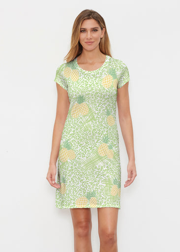 Pineapple Lime (10180) ~ Classic Crew Dress