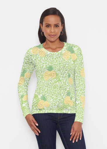 Pineapple Lime (10180) ~ Signature Long Sleeve Crew Shirt