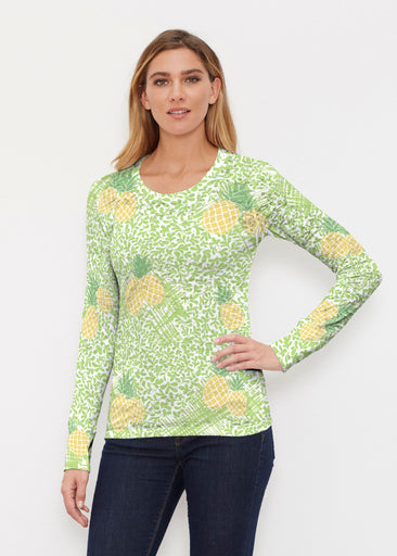 Pineapple Lime (10180) ~ Thermal Long Sleeve Crew Shirt