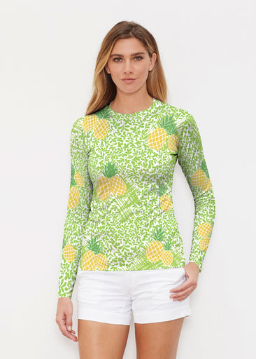 Pineapple Lime (10180) ~ Long Sleeve Rash Guard