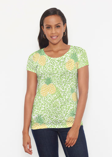 Pineapple Lime (10180) ~ Short Sleeve Scoop Shirt