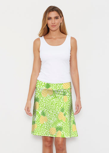 Pineapple Lime (10180) ~ Silky Brenda Skirt 21 inch