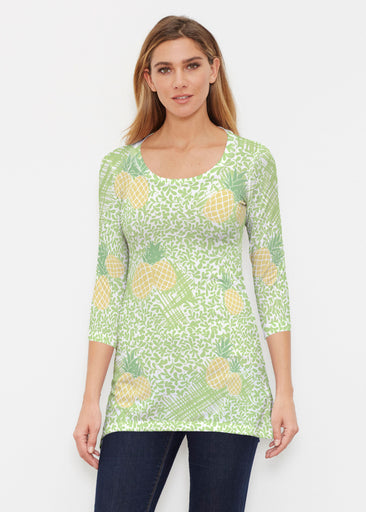 Pineapple Lime (10180) ~ Buttersoft 3/4 Sleeve Tunic