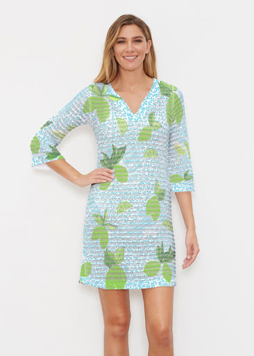 Margarita Lime (10181) ~ Banded 3/4 Sleeve Cover-up Dress