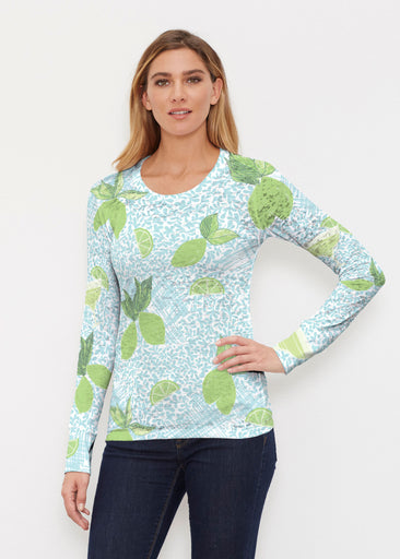 Margarita Lime (10181) ~ Thermal Long Sleeve Crew Shirt