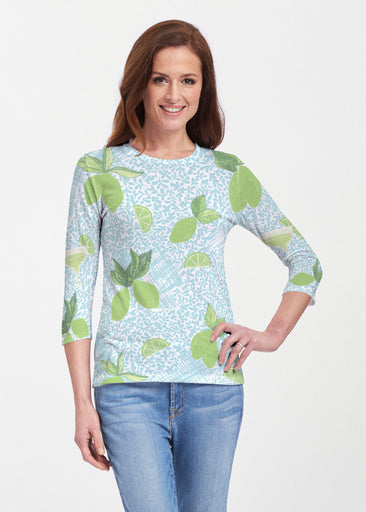 Margarita Lime (10181) ~ 3/4 Sleeve Crew