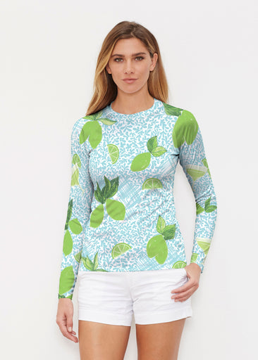 Margarita Lime (10181) ~ Long Sleeve Rash Guard