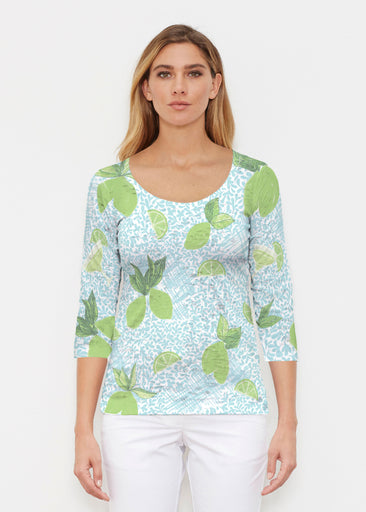 Margarita Lime (10181) ~ Signature 3/4 Sleeve Scoop Shirt