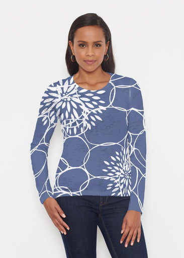 Reflection Navy (11040) ~ Signature Long Sleeve Crew Shirt