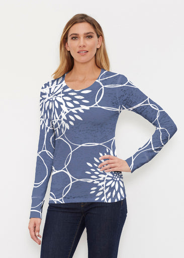 Reflection Navy (11040) ~ Thermal Long Sleeve Crew Shirt