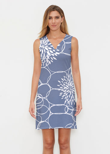 Reflection Navy (11040) ~ Classic Sleeveless Dress