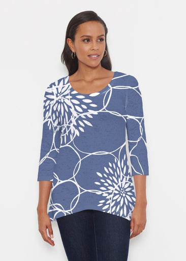 Reflection Navy (11040) ~ Katherine Hi-Lo Tunic