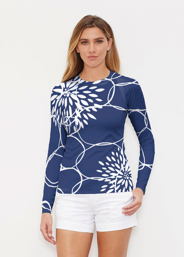 Reflection Navy (11040) ~ Long Sleeve Rash Guard