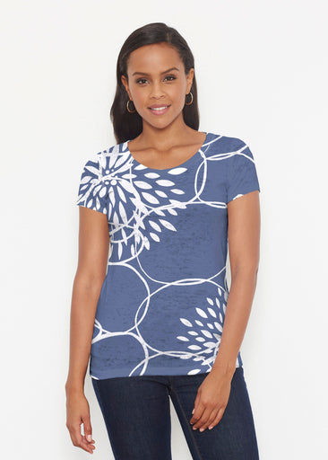 Reflection Navy (11040) ~ Signature Short Sleeve Scoop Shirt