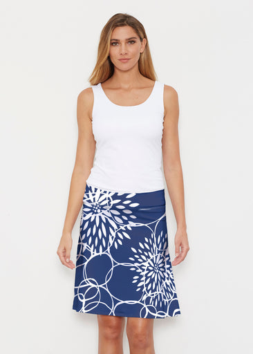Reflection Navy (11040) ~ Silky Brenda Skirt