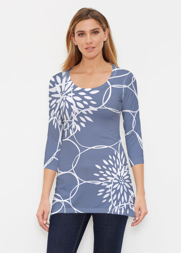 Reflection Navy (11040) ~ Buttersoft 3/4 Sleeve Tunic