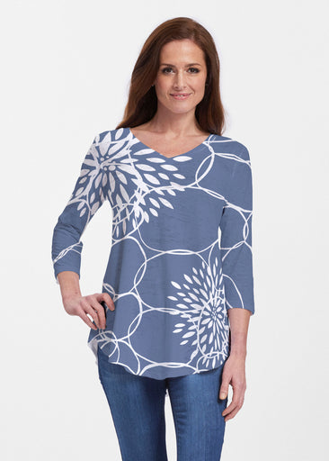 Reflection Navy (11040) ~ Signature V-neck Flowy Tunic