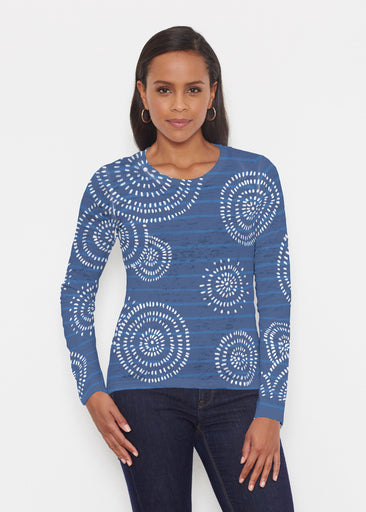 Celebration Navy (11075) ~ Signature Long Sleeve Crew Shirt