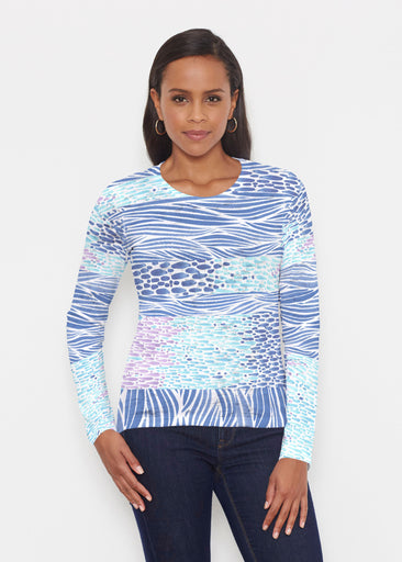 Tidal Stripe (11080) ~ Signature Long Sleeve Crew Shirt