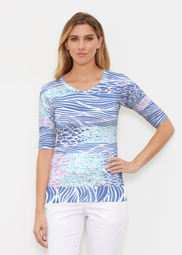 Tidal Stripe (11080) ~ Signature Elbow Sleeve Crew Shirt