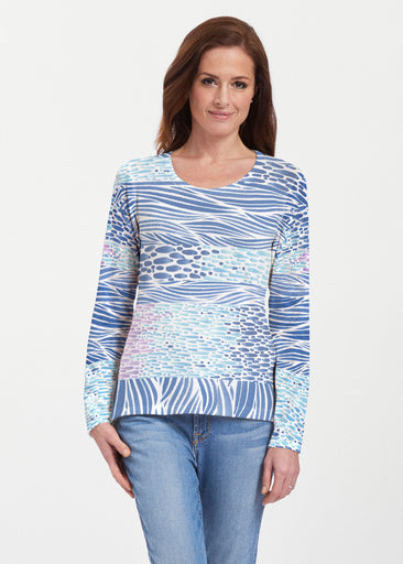 Tidal Stripe (11080) ~ Texture Mix Long Sleeve