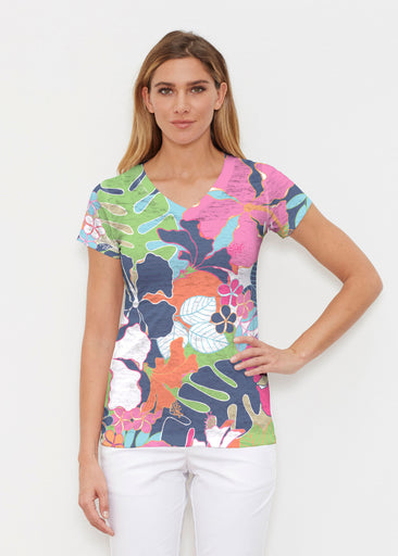 Hawaiian Resort (13020) ~ Signature Cap Sleeve V-Neck Shirt