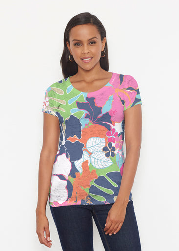 Hawaiian Resort (13020) ~ Short Sleeve Scoop Shirt