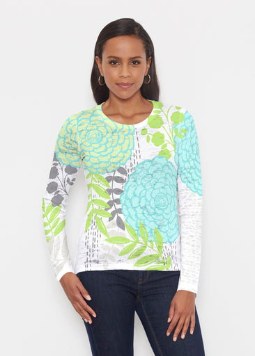 Hula White (13039) ~ Signature Long Sleeve Crew Shirt