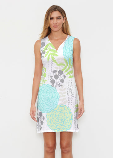 Hula White (13039) ~ Classic Sleeveless Dress