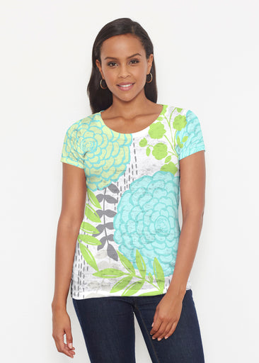 Hula White (13039) ~ Short Sleeve Scoop Shirt