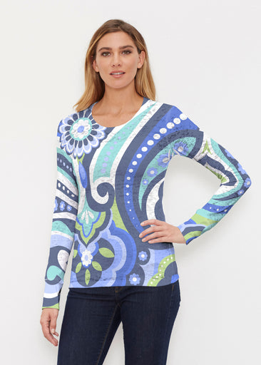 Jazz Blue (13070) ~ Thermal Long Sleeve Crew Shirt