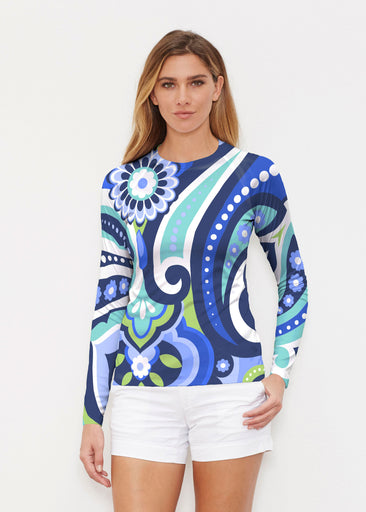 Jazz Blue (13070) ~ Long Sleeve Rash Guard