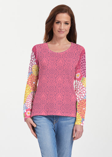 Happy Pink (13120) ~ Texture Mix Long Sleeve