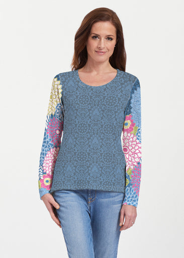 Happy Blue (13121) ~ Texture Mix Long Sleeve