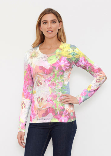 Mirage Pink (13140) ~ Thermal Long Sleeve Crew Shirt