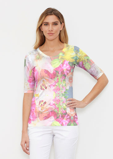 Mirage Pink (13140) ~ Signature Elbow Sleeve Crew Shirt