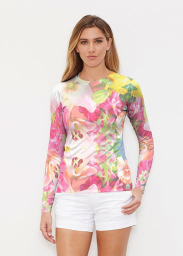Mirage Pink (13140) ~ Long Sleeve Rash Guard
