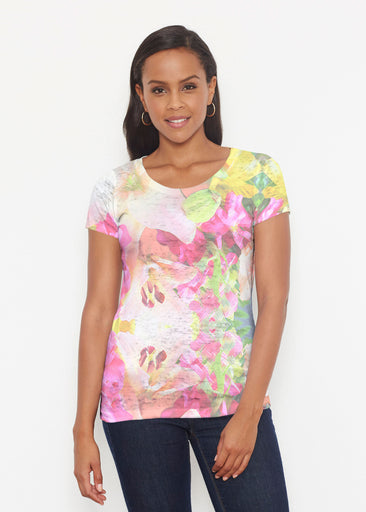 Mirage Pink (13140) ~ Signature Short Sleeve Scoop Shirt
