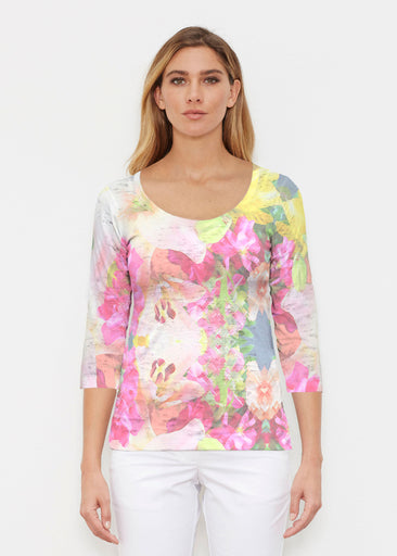 Mirage Pink (13140) ~ Signature 3/4 Sleeve Scoop Shirt