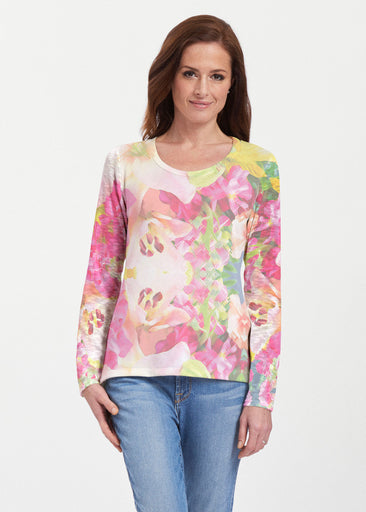 Mirage Pink (13140) ~ Texture Mix Long Sleeve